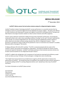media release - Queensland Transport and Logistics Council