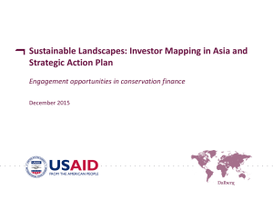 Sustainable Landscapes: Investor Mapping in Asia