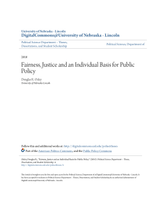 Fairness, Justice and an Individual Basis for Public Policy
