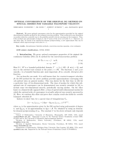 OPTIMAL CONVERGENCE OF THE ORIGINAL DG METHOD ON