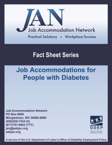 Fact Sheet Series - Job Accommodation Network