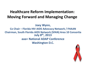 Health Care Reform - ADAP Advocacy Association