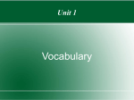 Unit 1 vocab
