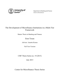 The Development of Microfinance Institutions in a Multi