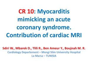 CR 10: Myocarditis mimicking an acute coronary syndrome