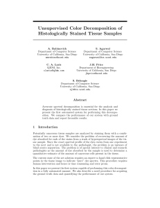 Unsupervised Color Decomposition of Histologically Stained Tissue