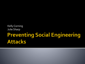 Preventing Social Engineering