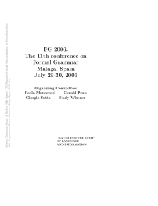 FG 2006: The 11th conference on Formal