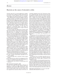 Review Bacteria as the cause of ulcerative colitis