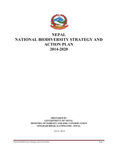 The Nepal Biodiversity Strategy and Action Plan