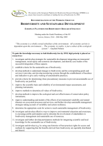 biodiversity and sustainable development