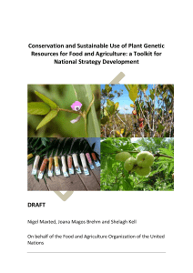 Conservation and Sustainable Use of Plant Genetic