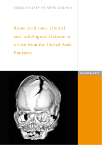 Raine syndrome: clinical and radiological features of a case from the