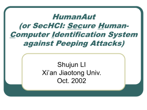 HumanAut (or SecHCI: Secure Human
