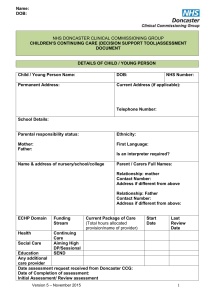 Assessment Document - Families Information Service (FIS) and