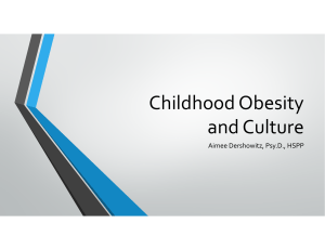 Childhood Obesity and Culture