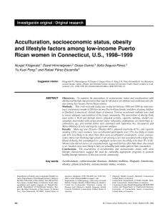 Acculturation, socioeconomic status, obesity and lifestyle factors