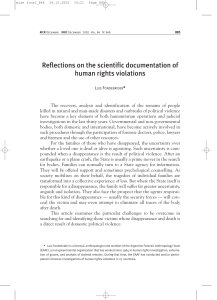 Reflections on the scientific documentation of human rights violations