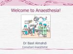 Introduction to Anaesthesia powerpoint!
