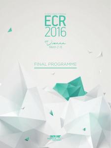 final programme - European Society of Radiology