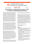 NEJM -- Elevated Serum Prostate-Specific Antigen Levels in a