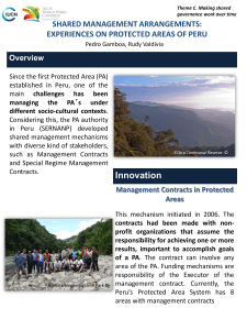 EXPERIENCES ON NATURAL PROTECTED AREAS OF PERU