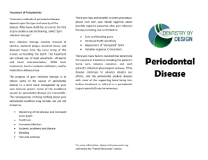 Periodontal (Gum) Disease Informational Pamphlet