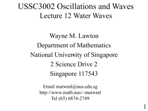 Lecture_12 - Dept of Maths, NUS