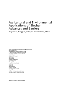 Agricultural and Environmental Applications of Biochar: Advances