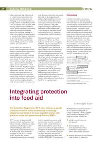 Integrating protection into food aid
