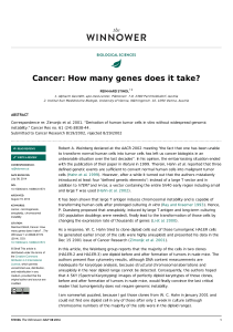Cancer: How many genes does it take?