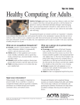 Tips for Living - Healthy Computing for Adults