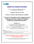 GENETIC GRAND ROUNDS