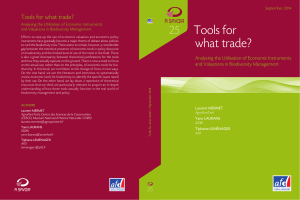 Tools for what trade? Analysing the Utilisation of Economic