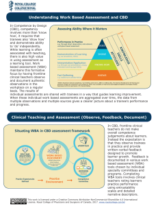 Understanding Work Based Assessment and CBD Clinical Teaching
