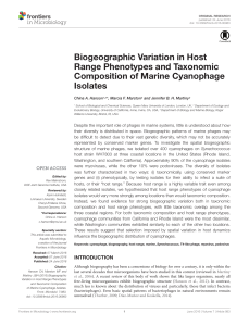Biogeographic Variation in Host Range Phenotypes and