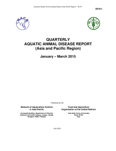 QUARTERLY AQUATIC ANIMAL DISEASE REPORT