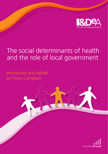 The social determinants of health and the role of local government
