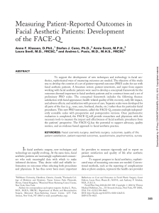Measuring Patient-Reported Outcomes in Facial Aesthetic Patients