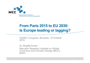 From Paris 2015 to EU 2030: Is Europe leading or lagging?