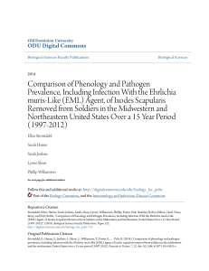 Comparison of Phenology and Pathogen Prevalence, Including