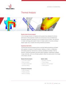 Advanced Engineering Thermal Analysis