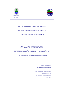 application of bioremediation techniques for the removal of