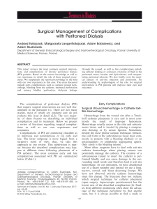 Surgical Management of Complications with Peritoneal Dialysis