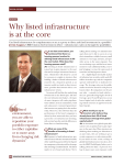 Why listed infrastructure is at the core