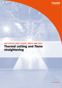 thermal cutting and flame straightening