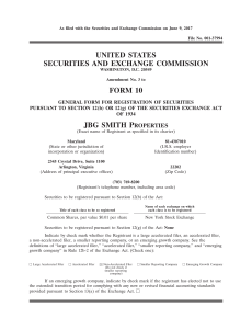 united states securities and exchange commission form 10 jbg smith