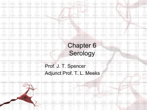 Ch 12- Forensic Serology - New Paltz Central School District