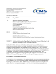 CMS guidance to Medicare Advantage plans on