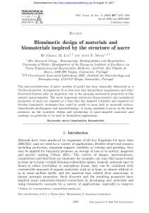 Biomimetic design of materials and biomaterials inspired by the